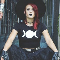 Triple Goddess Crop Top