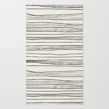 stripes Area & Throw Rug by spinL