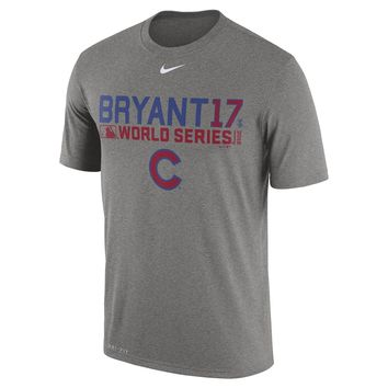 Men's Chicago Cubs Kris Bryant Nike Gray 2016 World Series Bound Player Legend T-Shirt