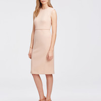 Sleeveless Piped Sheath Dress | Ann Taylor