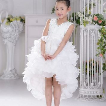 children dress baby girls new 2017 summer fashion floral the little kids wedding party cosplay dresses princess clothes costume