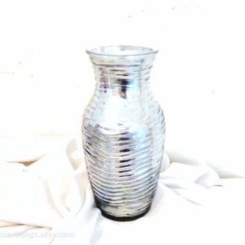 "Handmade 7.75"" Mercury Glass Textured Vase- bulk mercury glass vases- bulk party vases -bulk wedding vases"