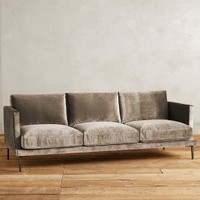 Slub Velvet Linde Sofa by Anthropologie