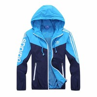 "Fashion ""adidas"" Hooded Zipper Cardigan Sweatshirt Jacket Coat Windbreaker Sportswear [10753565571]"