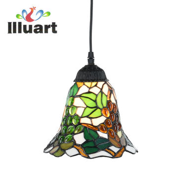 Tiffany Pendant Lamp European Retro Grape Stained Glass light living Room Fixtures Creative Pendant lights Led Vintage Bar lamp