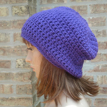 Slouchy hat - The Eden in Grape - Slouchy Beanie -  unisex slouch beanie - gamer hat
