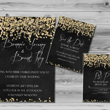 Best Black And Gold Wedding Invitations Products on Wanelo
