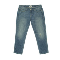 Paige Womens Jimmy Jimmy Destroyed Low-Rise Cropped Jeans