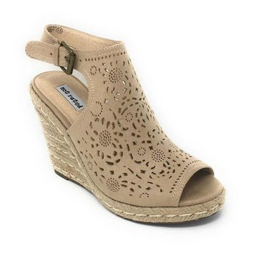 MDIGYW3 Not Rated Jobyna Nude Wedge Sandals