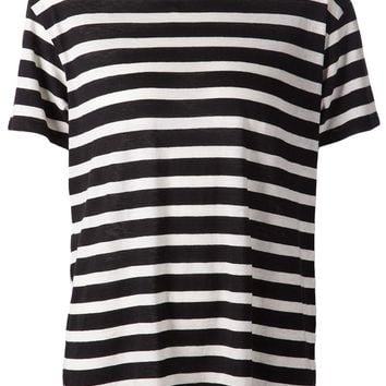 R13 horizontal stripe T-shirt