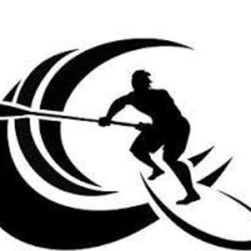 Paddleboard Wave  Vinyl Car/Laptop/Window/Wall Decal