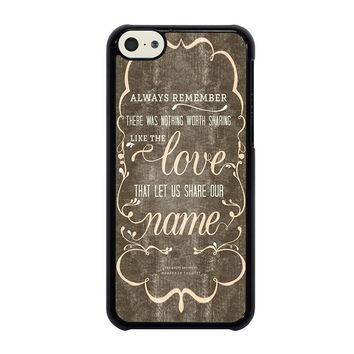 THE AVETT BROTHERS QUOTES iPhone 5C Case Cover