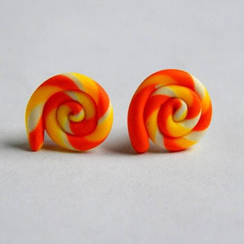 Candy Corn Earrings, Candy Corn Jewelry, Candy Corn, Candy Corn Studs, Fall earrings, Candy Earrings, Candy Corn Rainbow, halloween earrings