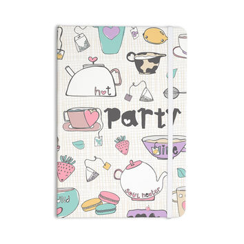 "MaJoBV ""Tea Party"" White Multicolor Everything Notebook"