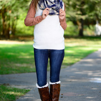 The Charmer Sweater, Ivory