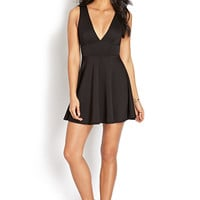 V-Cut Fit & Flare Dress
