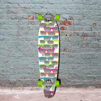 "White Shades Kicktail Longboard 40"" from Punked - Complete"