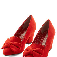 Bait Footwear Vintage Inspired Peppy Planner Heel in Orange