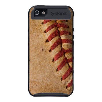 Vintage Softball Close-Up Customized Template iPhone 5 Case from Zazzle.com