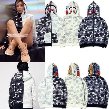 ICIKD9A BAPE x Shark Yin Yang Black White Hoodie (3 Colours Available)
