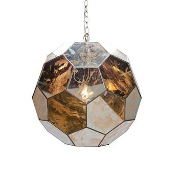 Worlds Away Knox Antique Mirror Pendant