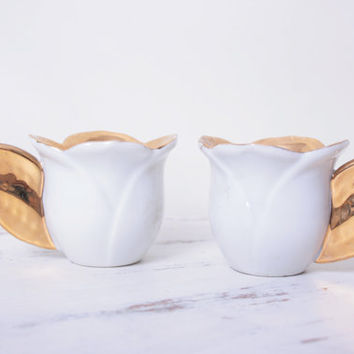 Gold Painted Miniature Tea Cups