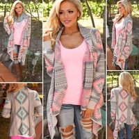 Cardigan Loose Sweater Long Sleeve Knitted Cardigan