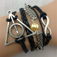 1 pc Love Vintage Harry Potter theme bracelet Jewelry DS03400