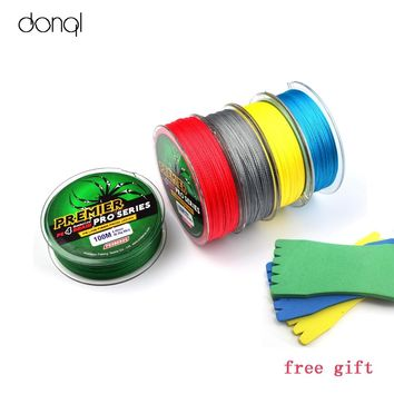 100m PE Multifilament Braided Fishing Line Carp Fishing Rope Wire Super Strong 4 Stands 6LBS-100LBS fluorocarbon Fishing Line