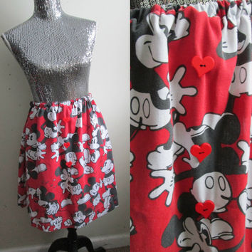 Vintage Mickey Mouse Valentines Day Party Skirt