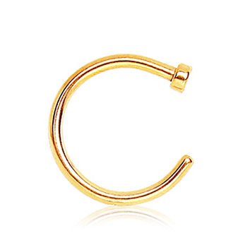 Gold Plated Nose Hoop Ring