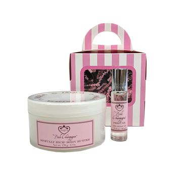 Pink Champagne Holiday Love Boxed Gift Set