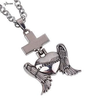 Winged Heart Necklace Angel Wings Flying Love Necklace Online Shopping India Heart Angel  Wing Necklace Collier Femme Punk Style