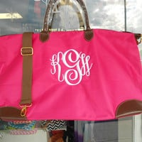 Large Weekender Tote Bag Monogram Font Shown MASTERCIRCLE