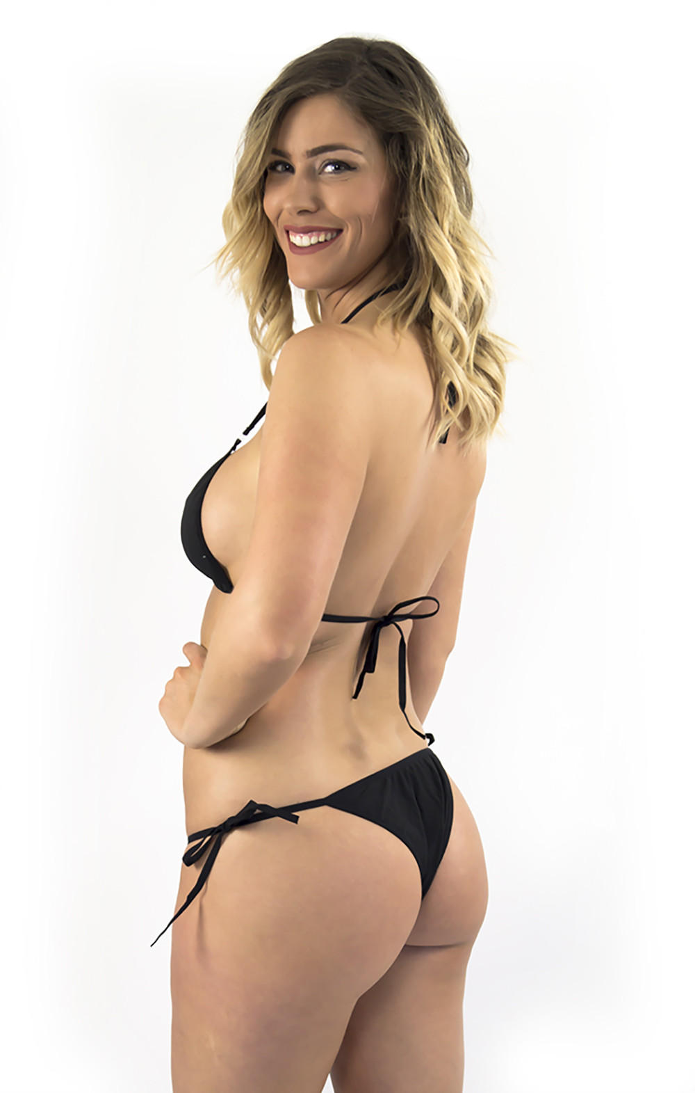 f1cde3fc896 Black Triangle Tops String Bikini thong bottom. $23.60 from LENA STYLE.  Save Buy