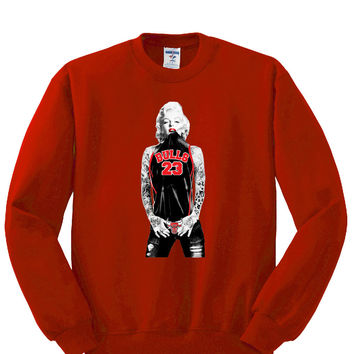 Marilyn Monroe Bulls Sweatshirt Sports Clothing