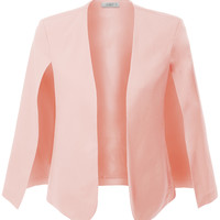 LE3NO Womens Open Front Cape Suit Blazer Jacket with Pockets