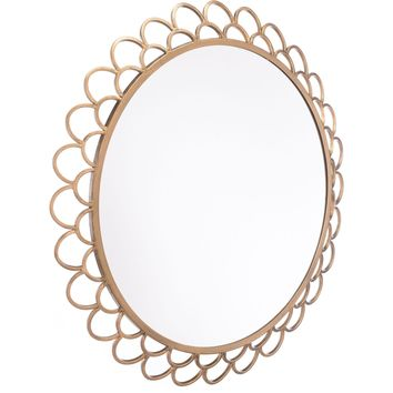Gold Rani Circular Wall Mirror, Large