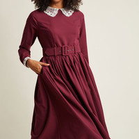 Collectif Cottage Cocktails Long Sleeve Dress