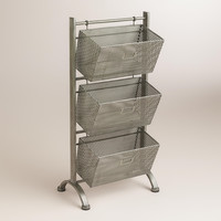 Zinc Jeremy 3-Basket Storage - World Market