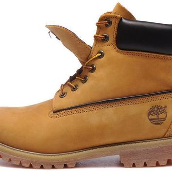 Men Timberland 6 Inch Boots GoldEnrod With Brown Logo