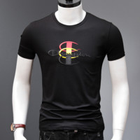 Champion New fashion bust embroidery letter top t-shirt Black