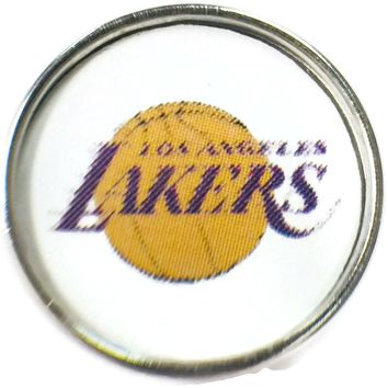 NBA Basketball Logo Los Angeles Lakers 18MM - 20MM Fashion Snap Jewelry Snap Charm New Item