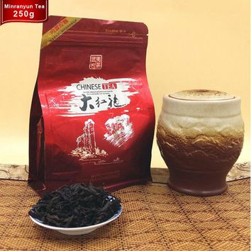 250g Dahongpao Oolong Tea Big Red Robe Zip Seal Bag Package Dahongpao Tea China Wuyi Oolong Shui Xian DaHongPao Lose Weight Tea