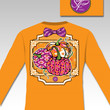 Sassy Frass  Pumpkin Patch Fall Halloween Bow Long Sleeve Bright Girlie T Shirt