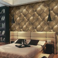 Gold Luxury Wallpapers Fashion 3D Soft Wrap Wallpaper Luxury Waterproof PVC Wallpaper 3D Living Room Wall Paper Faux Leather