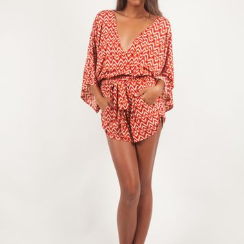 Gillia Mystic Nomad Playsuits Print (Ruby, Sapphire)