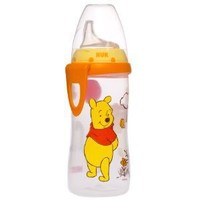 NUK Disney Winnie the Pooh 10 Ounces Active Cup Silicone Spout, 12+ Months