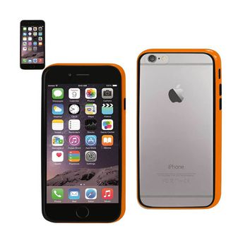 New Bumper Case With Tempered Glass Screen Protector In Orange For iPhone 6