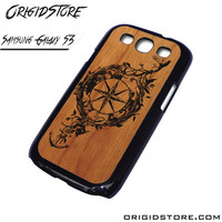 Compass Wood Case For Samsung Galaxy S3 Case